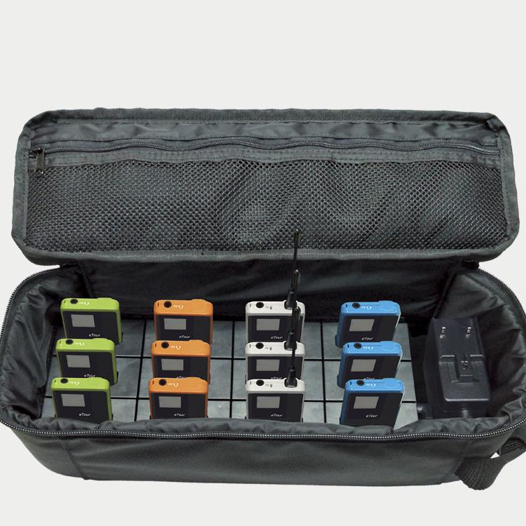 Lade- und Transporttasche für Personenführungsanlagen