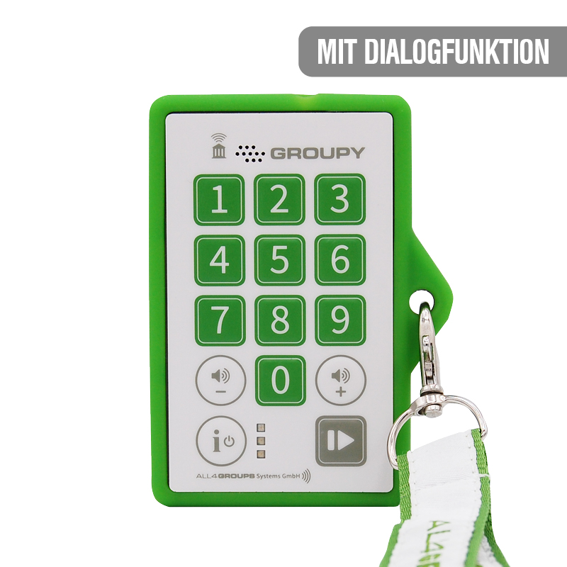 Audioguide Groupy Company Dialogfunktion