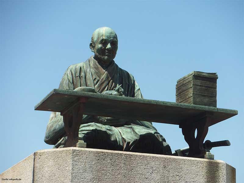 Monument Tour Guide Kaibara Ekken aus Japan