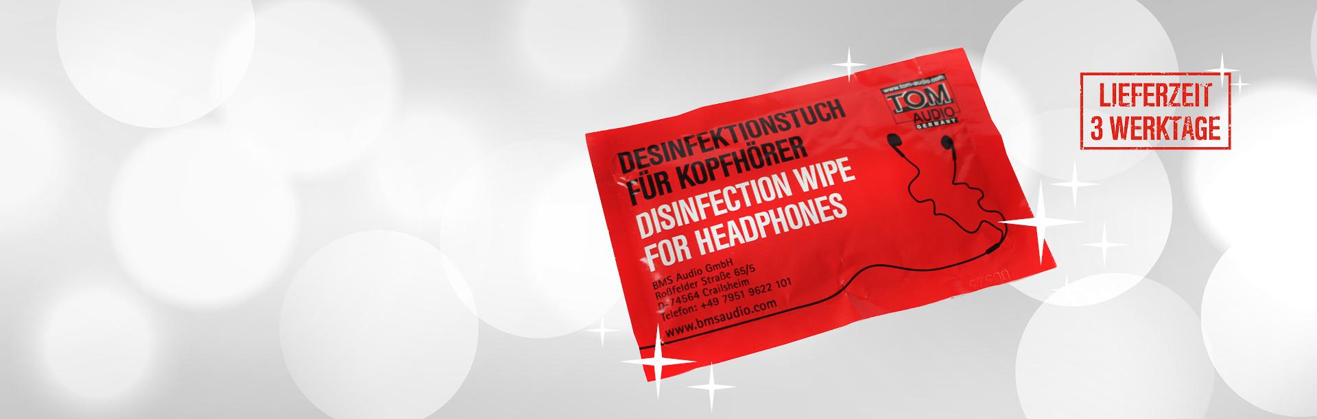 Desinfektionstücher in 3 Werktagen lieferbar